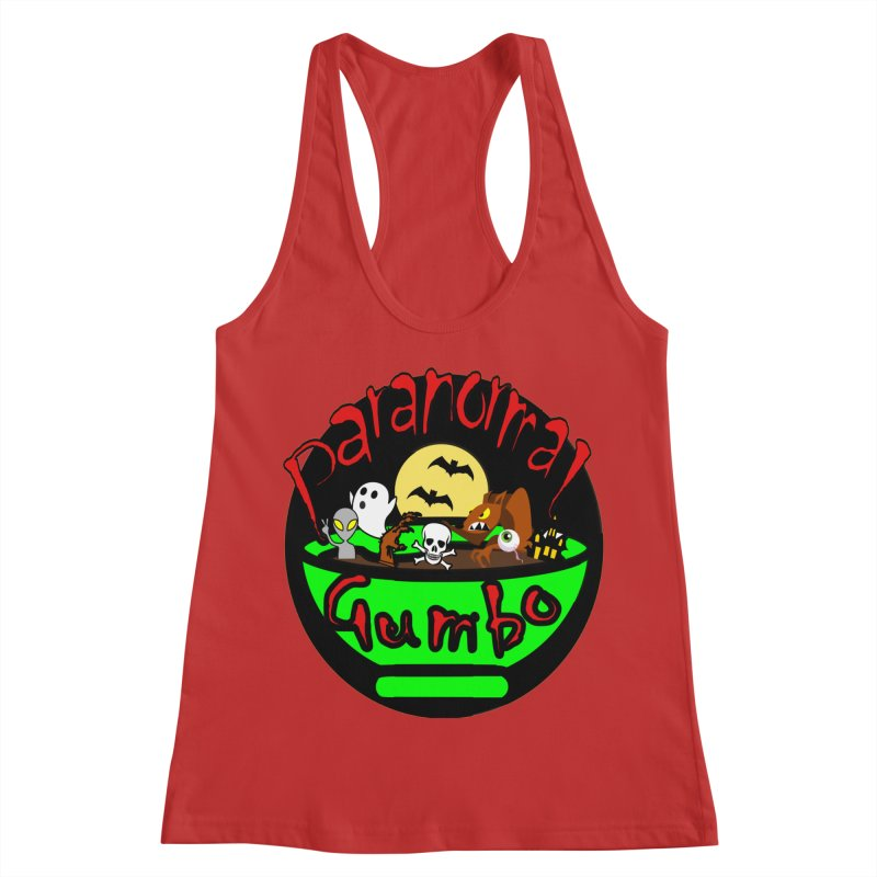 Paranormal Gumbo Original Logo Products Women's Racerback Tank by Paranormal Gumbo