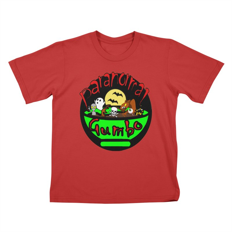 Paranormal Gumbo Original Logo Products Kids T-Shirt by Paranormal Gumbo