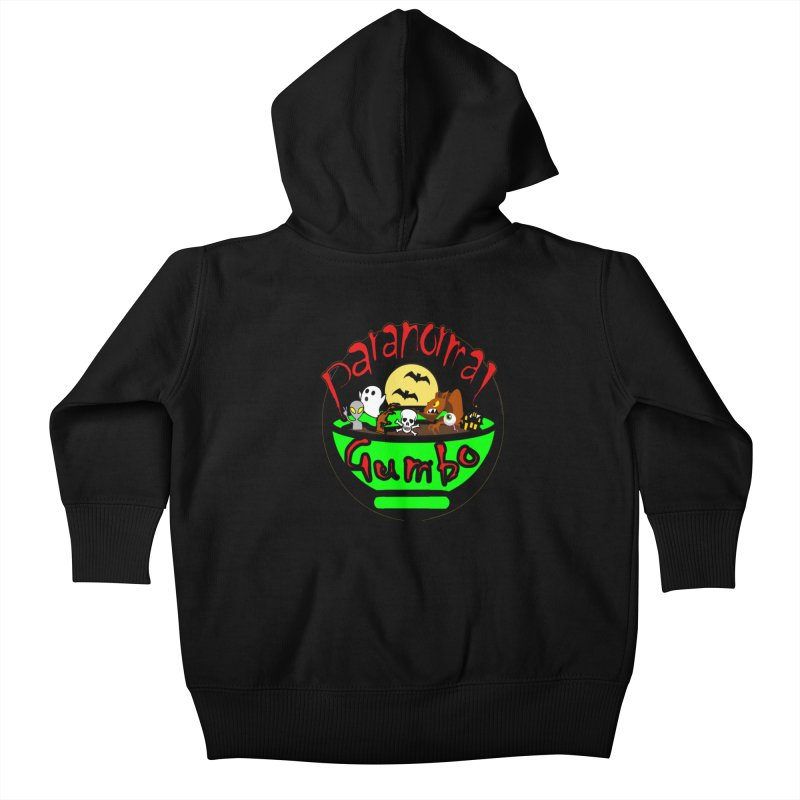 Paranormal Gumbo Original Logo Products Kids Baby Zip-Up Hoody by Paranormal Gumbo