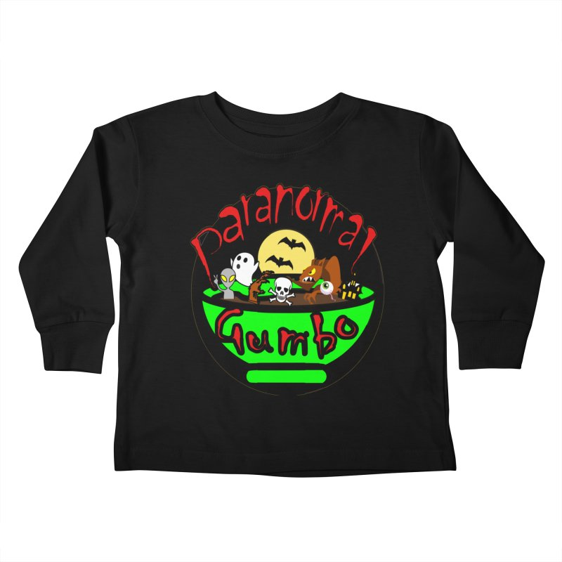 Paranormal Gumbo Original Logo Products Kids Toddler Longsleeve T-Shirt by Paranormal Gumbo