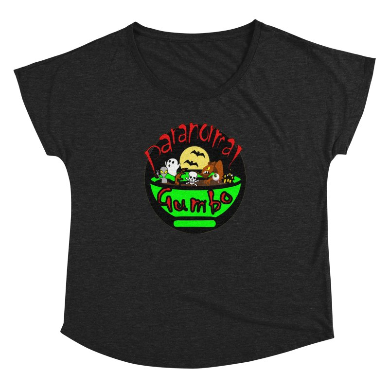 Paranormal Gumbo Original Logo Products Women's Dolman Scoop Neck by Paranormal Gumbo