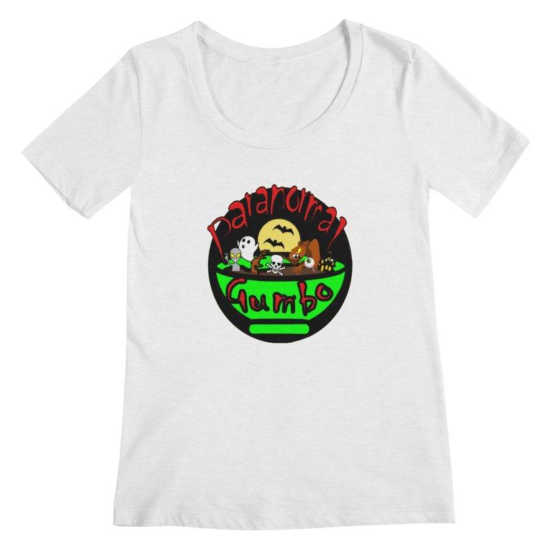 Paranormal Gumbo Original Logo Products Women's Regular Scoop Neck by Paranormal Gumbo