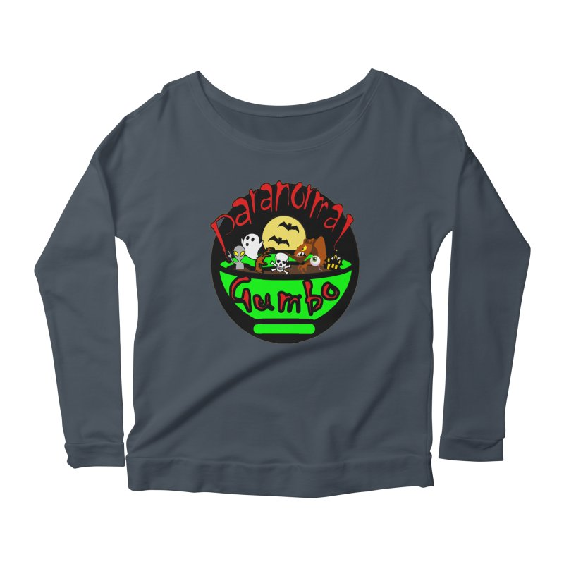 Paranormal Gumbo Original Logo Products Women's Scoop Neck Longsleeve T-Shirt by Paranormal Gumbo