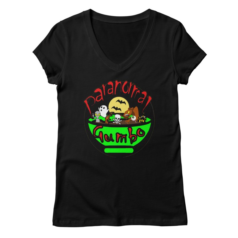 Paranormal Gumbo Original Logo Products Women's V-Neck by Paranormal Gumbo