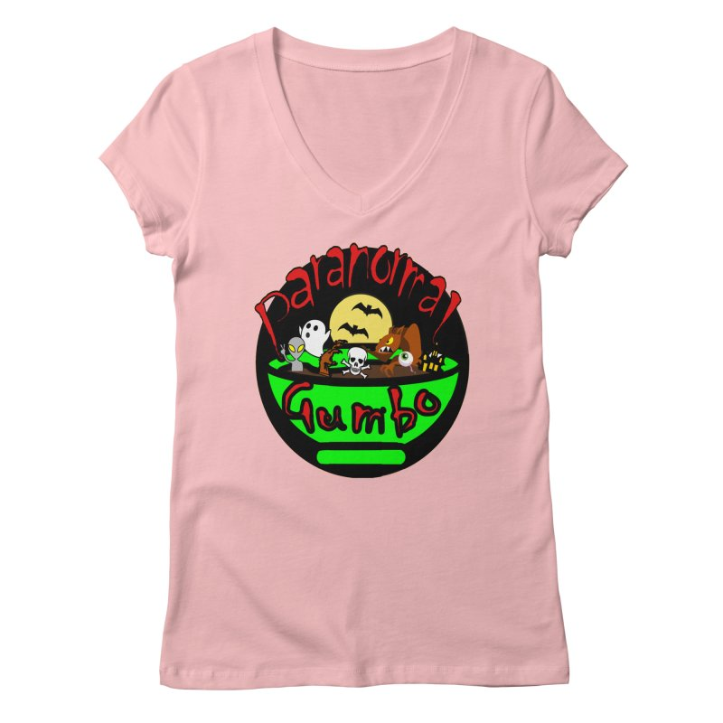 Paranormal Gumbo Original Logo Products Women's Regular V-Neck by Paranormal Gumbo
