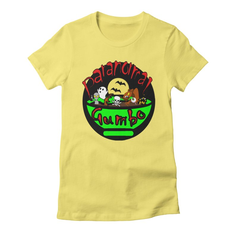Paranormal Gumbo Original Logo Products Women's Fitted T-Shirt by Paranormal Gumbo