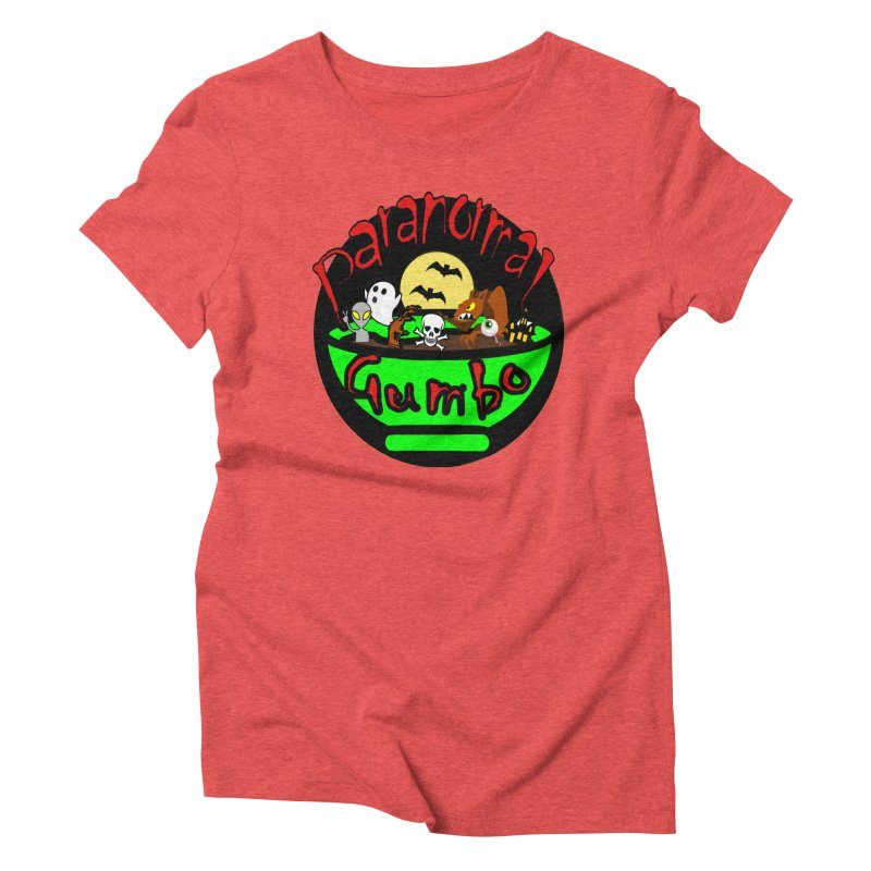 Paranormal Gumbo Original Logo Products Women's Triblend T-Shirt by Paranormal Gumbo
