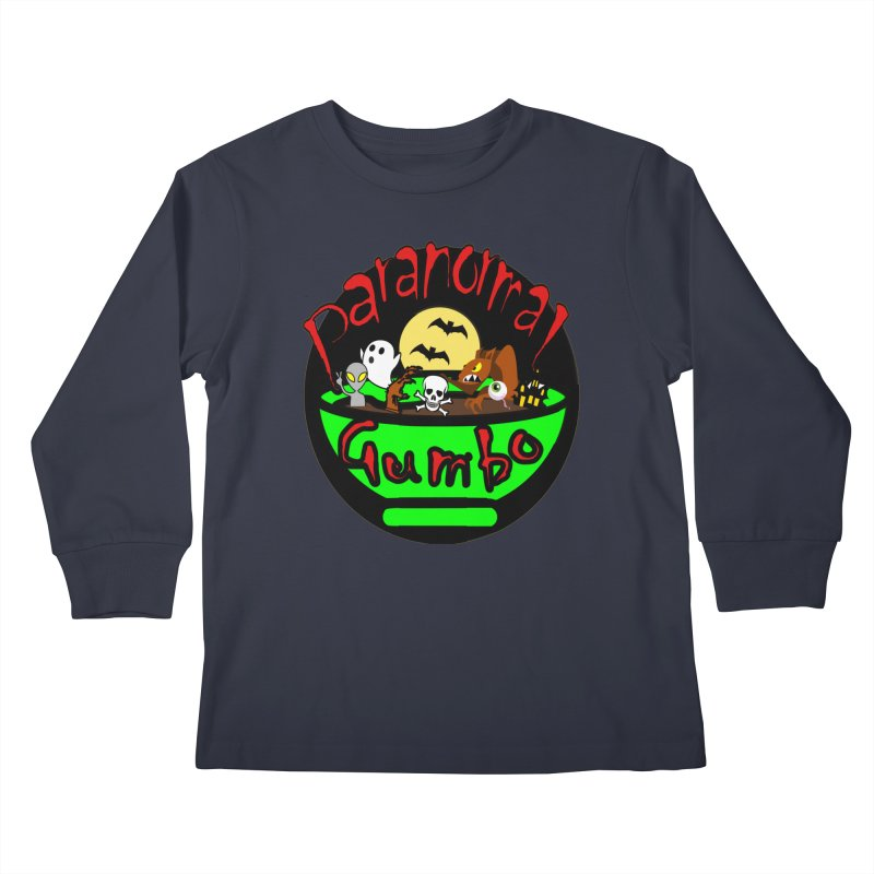 Paranormal Gumbo Original Logo Products Kids Longsleeve T-Shirt by Paranormal Gumbo