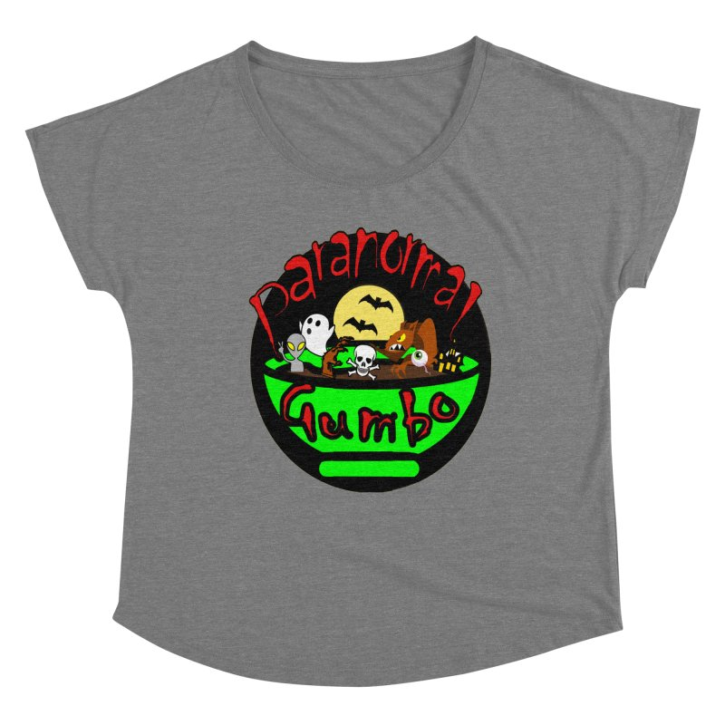 Paranormal Gumbo Original Logo Products Women's Scoop Neck by Paranormal Gumbo