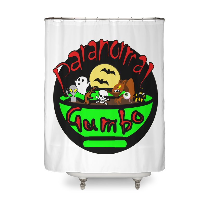 Paranormal Gumbo Original Logo Products Home Shower Curtain by Paranormal Gumbo