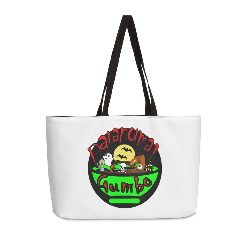 Paranormal Gumbo Original Logo Products Accessories Weekender Bag Bag by Paranormal Gumbo