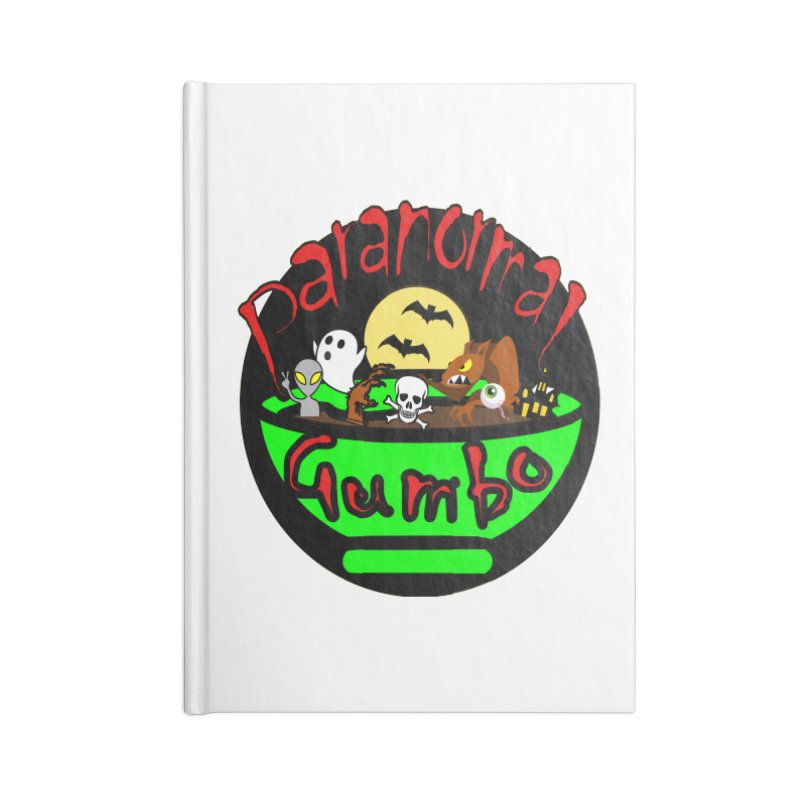 Paranormal Gumbo Original Logo Products Accessories Lined Journal Notebook by Paranormal Gumbo