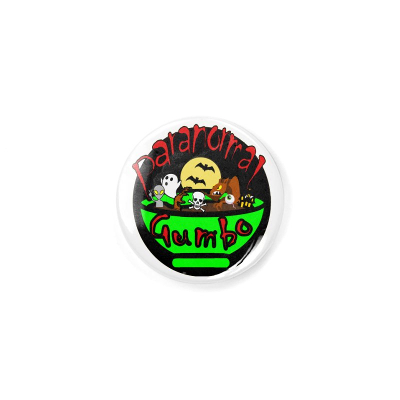 Paranormal Gumbo Original Logo Products Accessories Button by Paranormal Gumbo