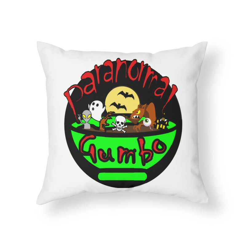 Paranormal Gumbo Original Logo Products Home Throw Pillow by Paranormal Gumbo