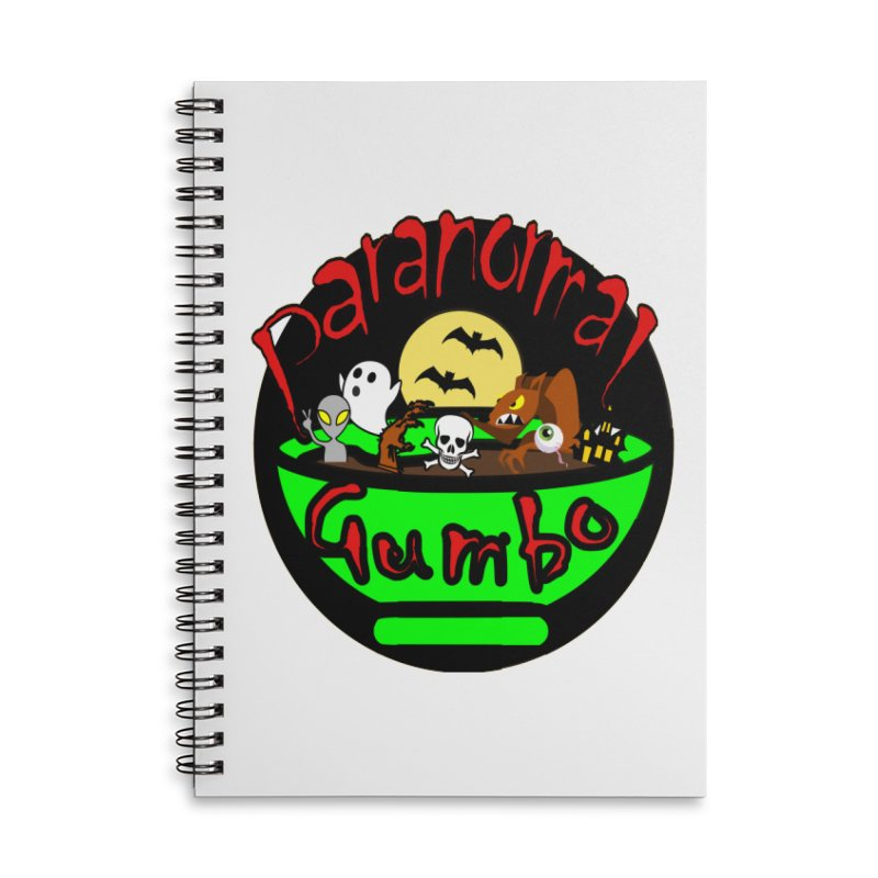 Paranormal Gumbo Original Logo Products Accessories Lined Spiral Notebook by Paranormal Gumbo