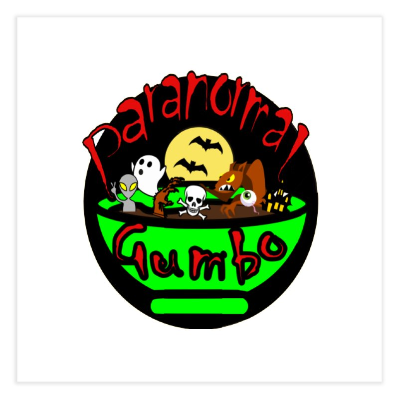 Paranormal Gumbo Original Logo Products Home Fine Art Print by Paranormal Gumbo