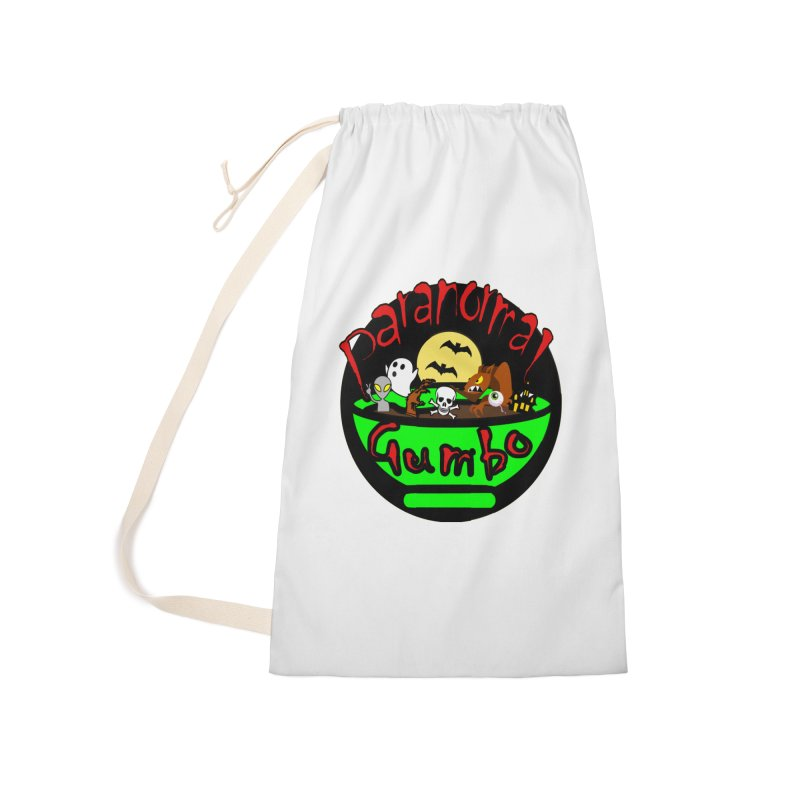 Paranormal Gumbo Original Logo Products Accessories Laundry Bag Bag by Paranormal Gumbo