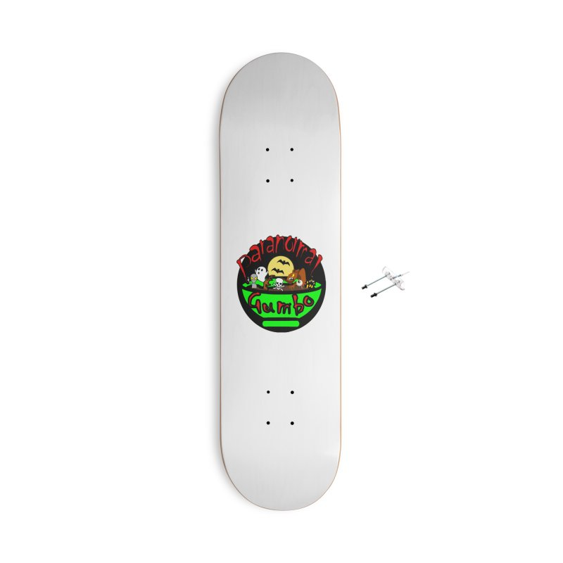 Paranormal Gumbo Original Logo Products Accessories With Hanging Hardware Skateboard by Paranormal Gumbo