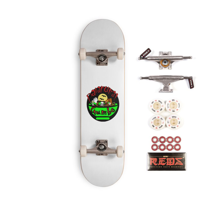 Paranormal Gumbo Original Logo Products Accessories Complete - Pro Skateboard by Paranormal Gumbo