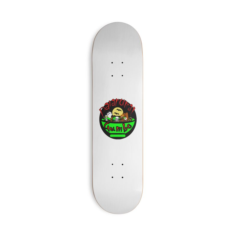 Paranormal Gumbo Original Logo Products Accessories Deck Only Skateboard by Paranormal Gumbo
