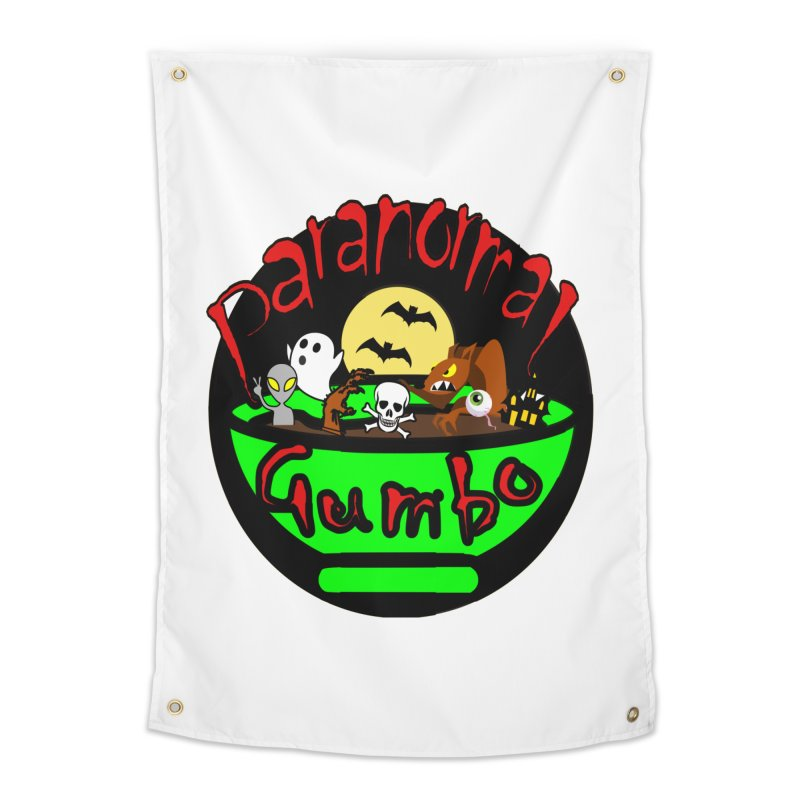 Paranormal Gumbo Original Logo Products Home Tapestry by Paranormal Gumbo