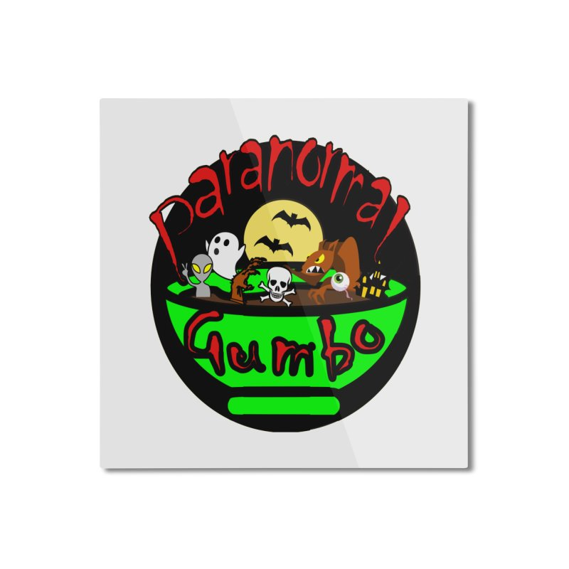 Paranormal Gumbo Original Logo Products Home Mounted Aluminum Print by Paranormal Gumbo