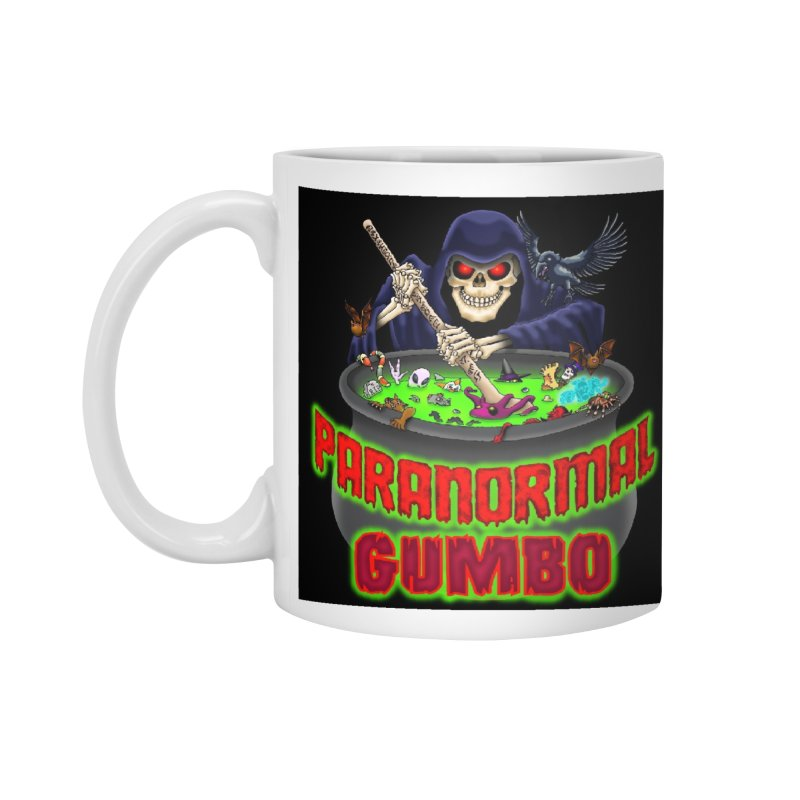 Paranormal Gumbo Grim Reaper Logo Products Accessories Mug by Paranormal Gumbo