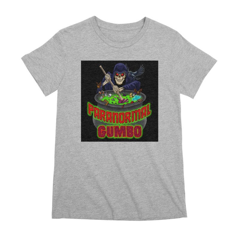 Paranormal Gumbo Grim Reaper Logo Products Women's Premium T-Shirt by Paranormal Gumbo