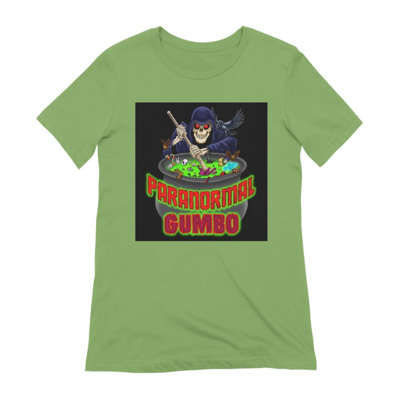Paranormal Gumbo Grim Reaper Logo Products Women's Extra Soft T-Shirt by Paranormal Gumbo