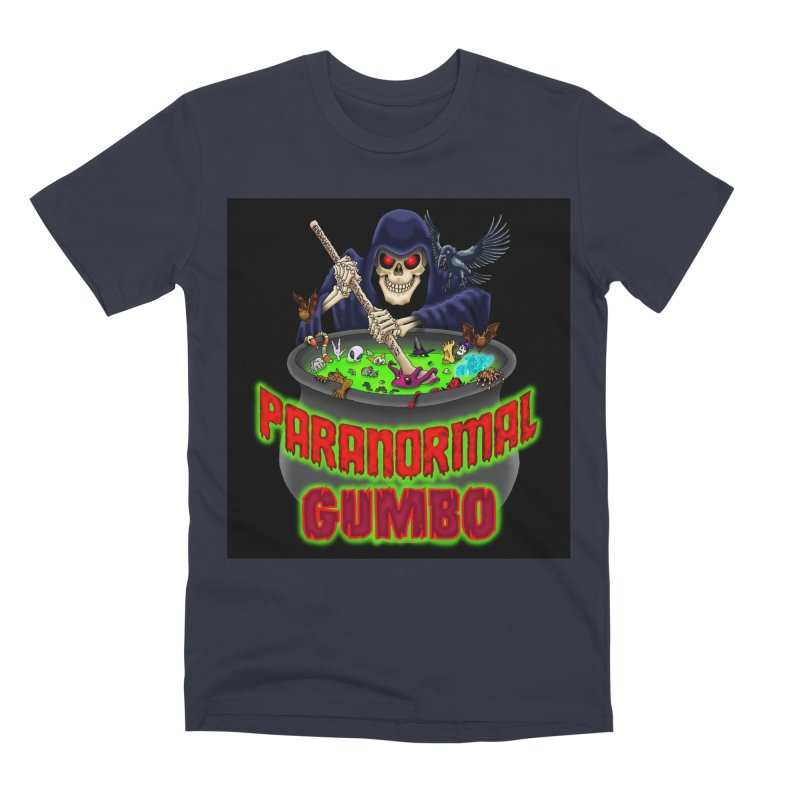 Paranormal Gumbo Grim Reaper Logo Products Men's Premium T-Shirt by Paranormal Gumbo