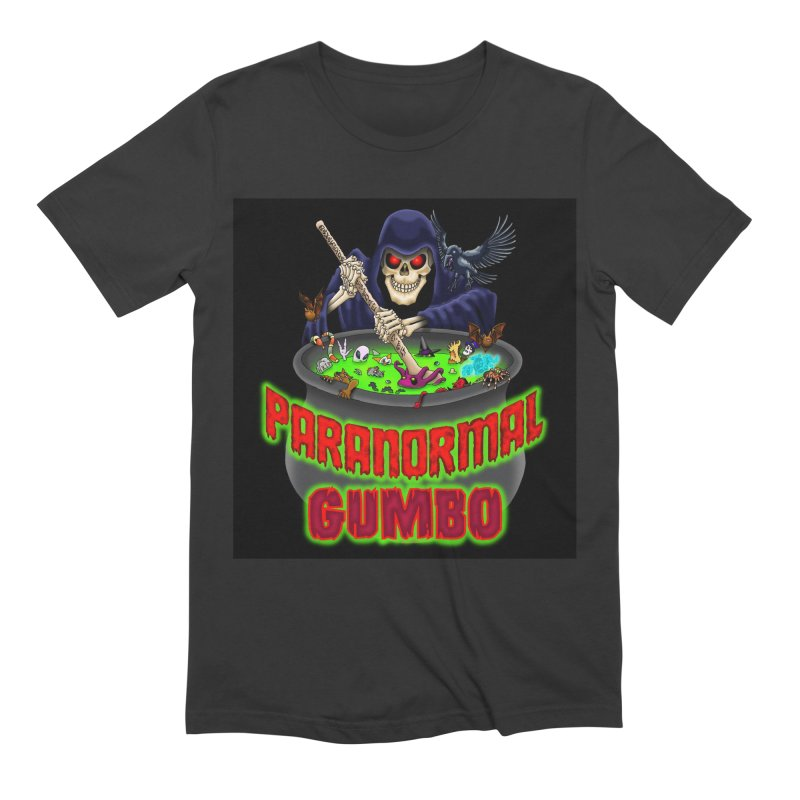 Paranormal Gumbo Grim Reaper Logo Products Men's Extra Soft T-Shirt by Paranormal Gumbo