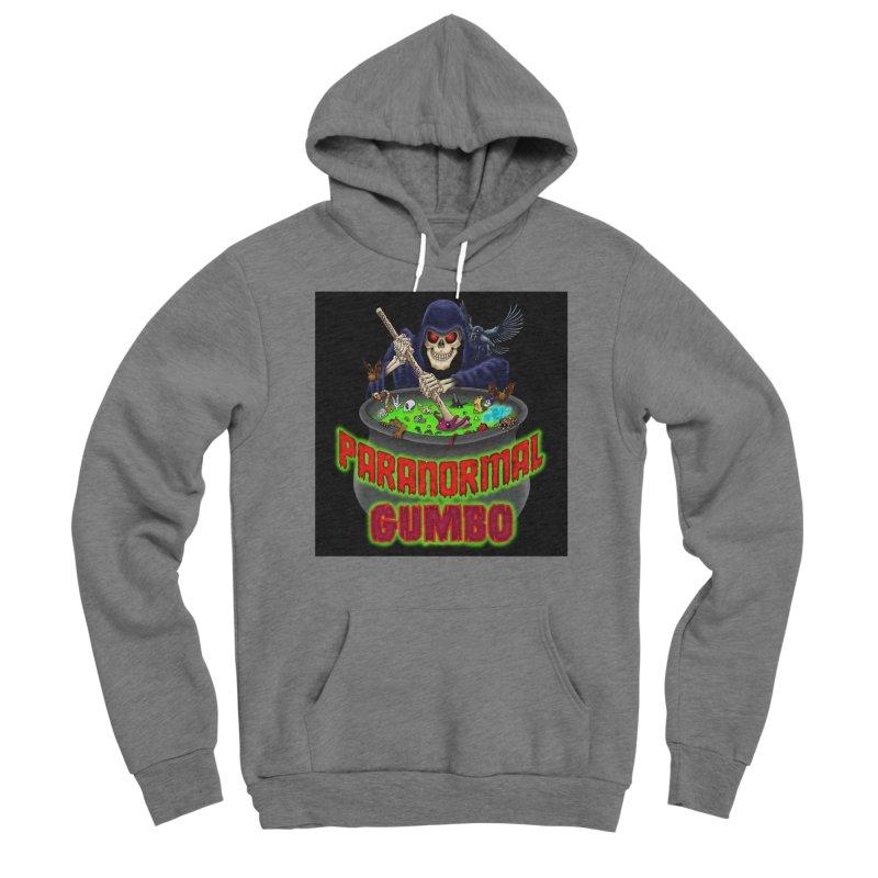 Paranormal Gumbo Grim Reaper Logo Products Women's Sponge Fleece Pullover Hoody by Paranormal Gumbo