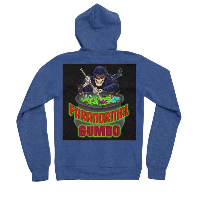 Paranormal Gumbo Grim Reaper Logo Products Women's Sponge Fleece Zip-Up Hoody by Paranormal Gumbo