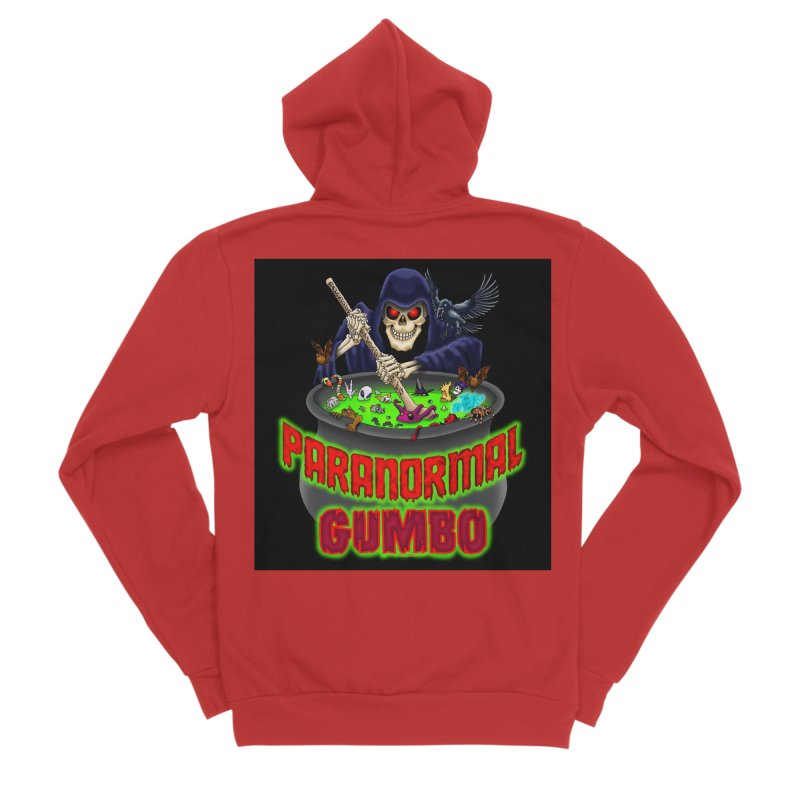 Paranormal Gumbo Grim Reaper Logo Products Women's Sponge Fleece Zip-Up Hoody by Paranormal Gumbo