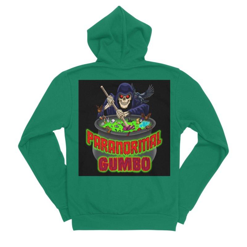 Paranormal Gumbo Grim Reaper Logo Products Men's Sponge Fleece Zip-Up Hoody by Paranormal Gumbo