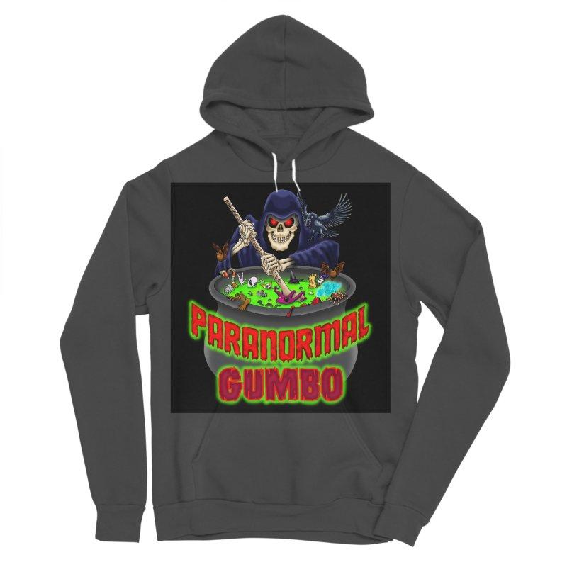 Paranormal Gumbo Grim Reaper Logo Products Men's Sponge Fleece Pullover Hoody by Paranormal Gumbo