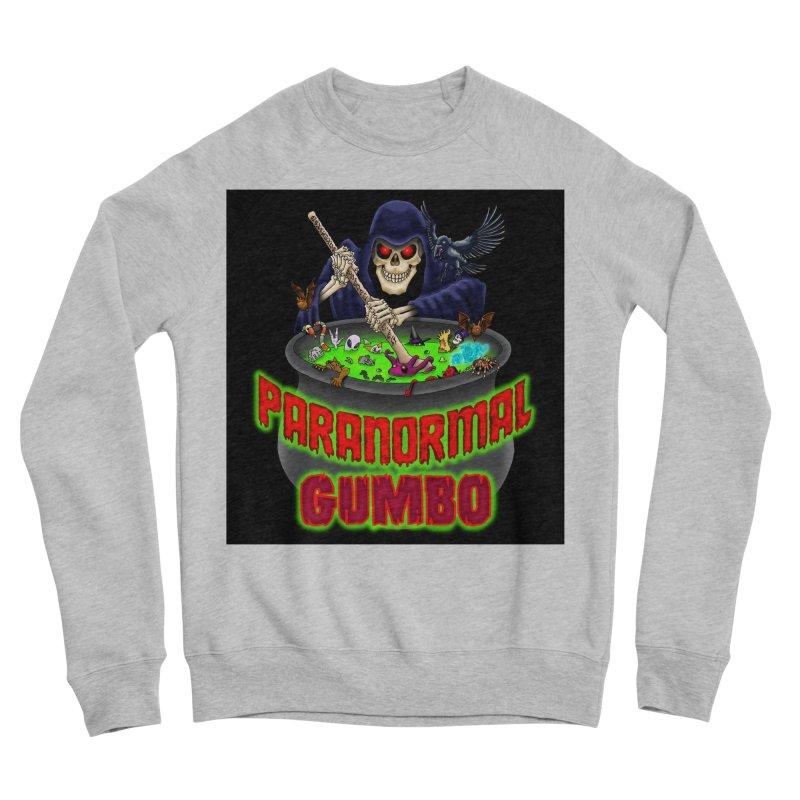Paranormal Gumbo Grim Reaper Logo Products Women's Sponge Fleece Sweatshirt by Paranormal Gumbo