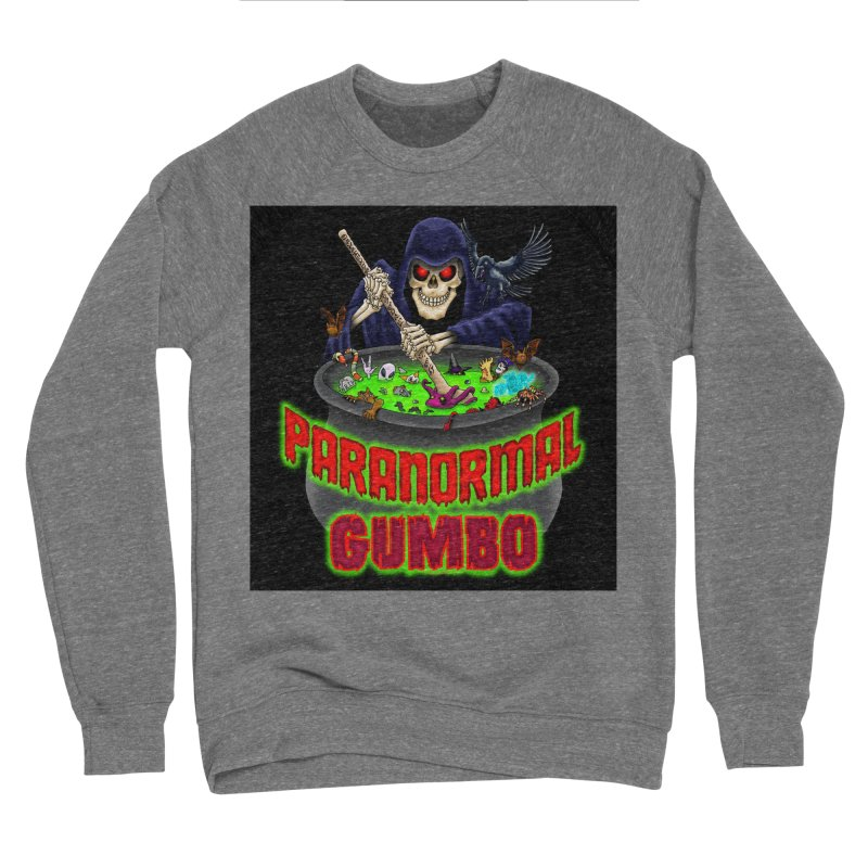 Paranormal Gumbo Grim Reaper Logo Products Men's Sponge Fleece Sweatshirt by Paranormal Gumbo