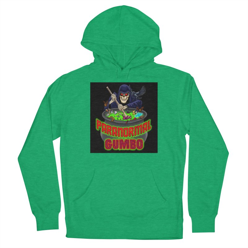 Paranormal Gumbo Grim Reaper Logo Products Men's French Terry Pullover Hoody by Paranormal Gumbo
