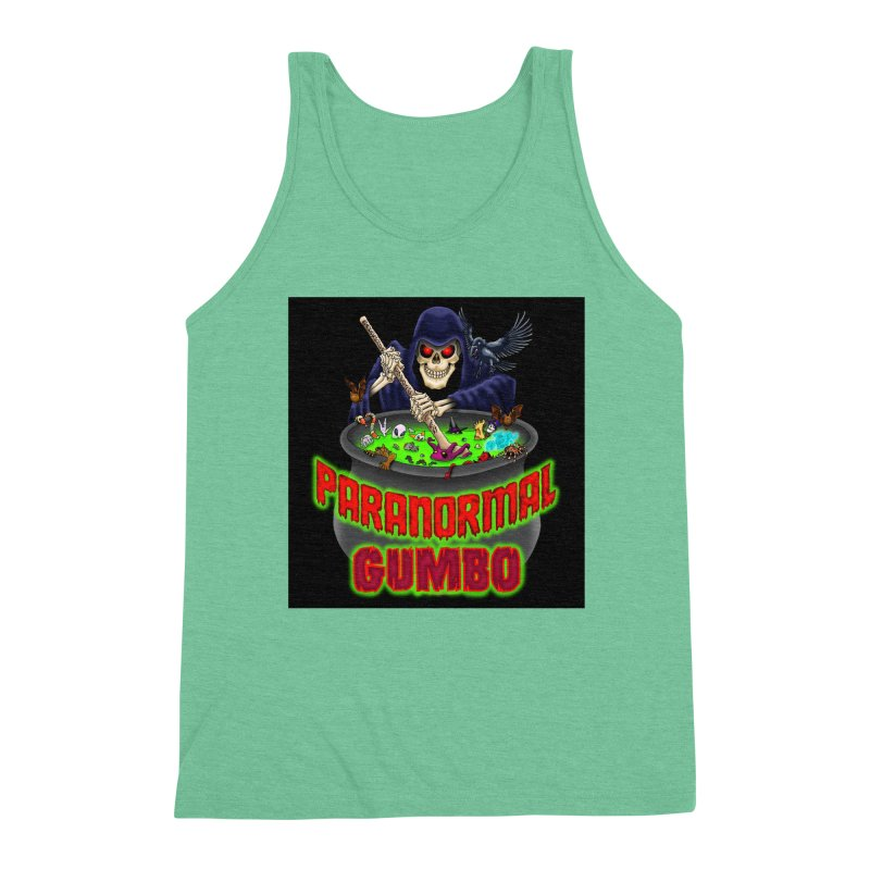 Paranormal Gumbo Grim Reaper Logo Products Men's Triblend Tank by Paranormal Gumbo