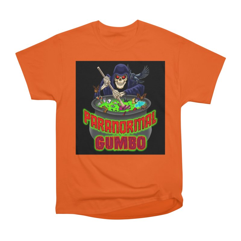 Paranormal Gumbo Grim Reaper Logo Products Women's Heavyweight Unisex T-Shirt by Paranormal Gumbo