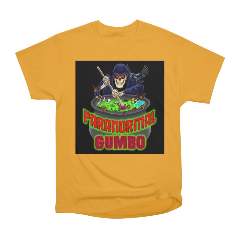 Paranormal Gumbo Grim Reaper Logo Products Men's Heavyweight T-Shirt by Paranormal Gumbo