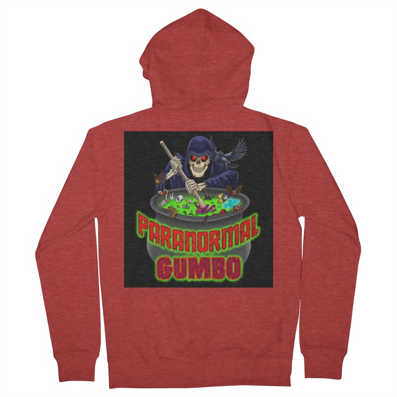 Paranormal Gumbo Grim Reaper Logo Products Women's French Terry Zip-Up Hoody by Paranormal Gumbo
