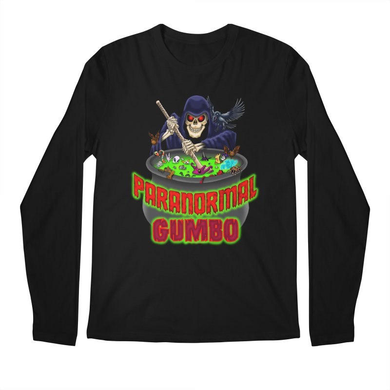 Paranormal Gumbo Grim Reaper Logo Products Men's Regular Longsleeve T-Shirt by Paranormal Gumbo