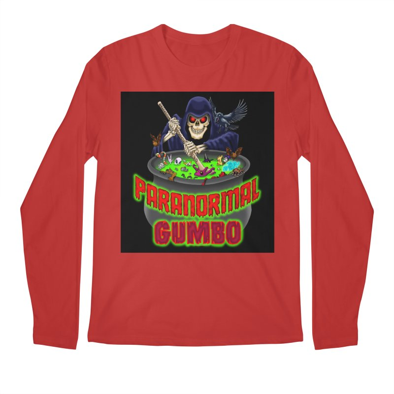 Paranormal Gumbo Grim Reaper Logo Products Men's Regular Longsleeve T-Shirt by Paranormal Gumbo