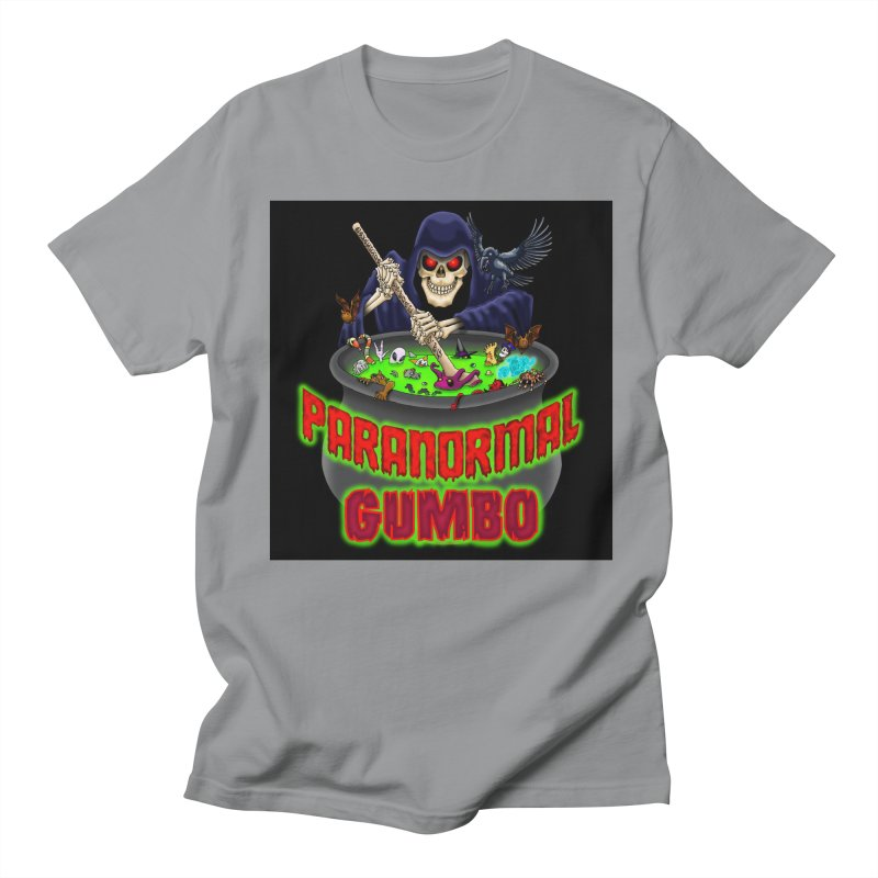 Paranormal Gumbo Grim Reaper Logo Products Women's Regular Unisex T-Shirt by Paranormal Gumbo