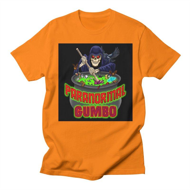 Paranormal Gumbo Grim Reaper Logo Products Men's Regular T-Shirt by Paranormal Gumbo