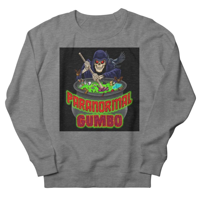 Paranormal Gumbo Grim Reaper Logo Products Women's French Terry Sweatshirt by Paranormal Gumbo
