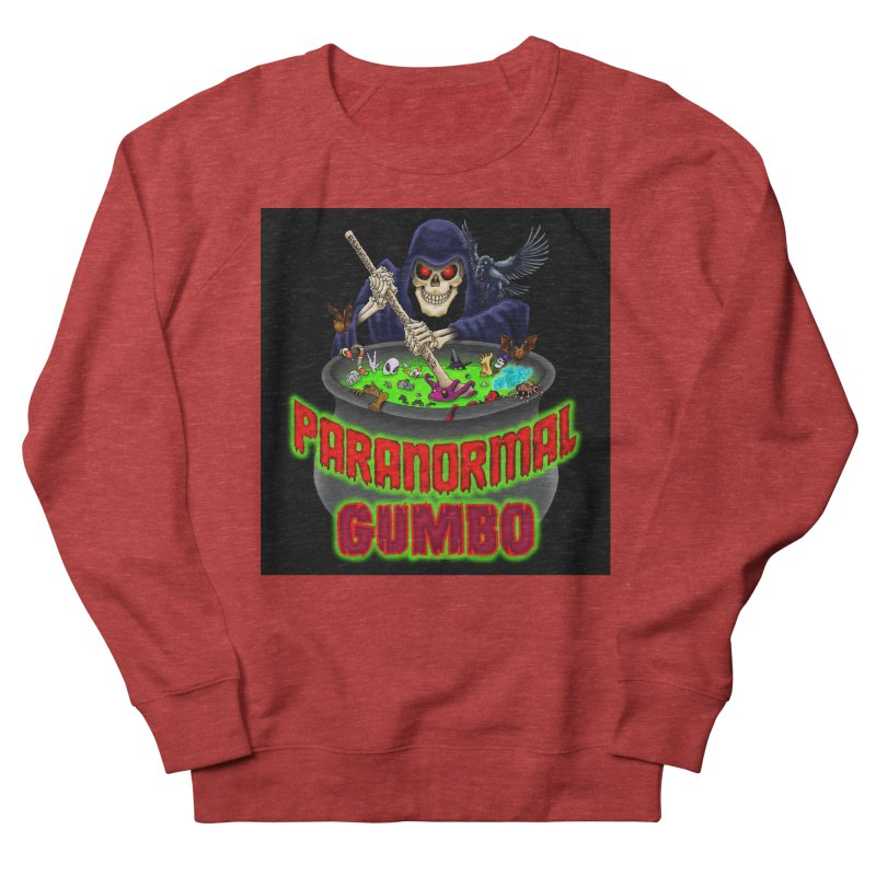 Paranormal Gumbo Grim Reaper Logo Products Men's French Terry Sweatshirt by Paranormal Gumbo