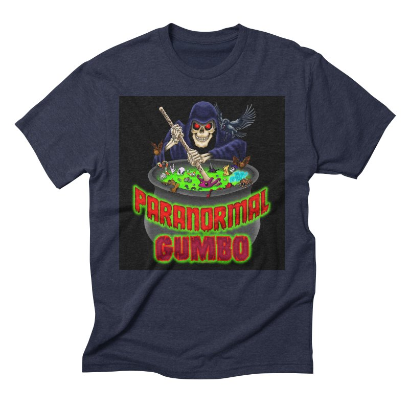 Paranormal Gumbo Grim Reaper Logo Products Men's Triblend T-Shirt by Paranormal Gumbo